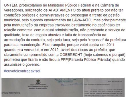 Tiro no pé: na tentativa de se promover com escândalo Danilo denuncia a si mesmo no MPF
