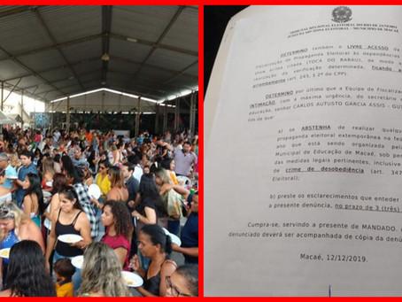 Ação do TRE coíbe propaganda eleitoral para Guto Garcia em festa da Educação