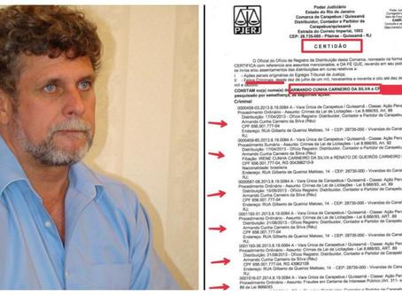 Quissamã: Ex-prefeito é absolvido em UM processo. Ainda restam outros 379
