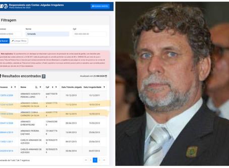 Contas reprovadas pelo TCE  podem tirar Armando Carneiro das eleições em Quissamã