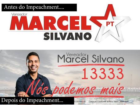 Vergonha? Vereador petista retira logotipo do partido de seu material de campanha