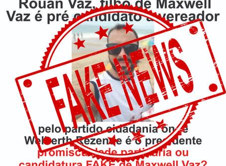 #É FAKE: Rouan, filho de Maxwell Vaz não é filiado ao partido de Welberth