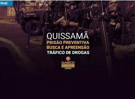 URGENTE: MP realiza operação contra o narcotráfico em Quissamã
