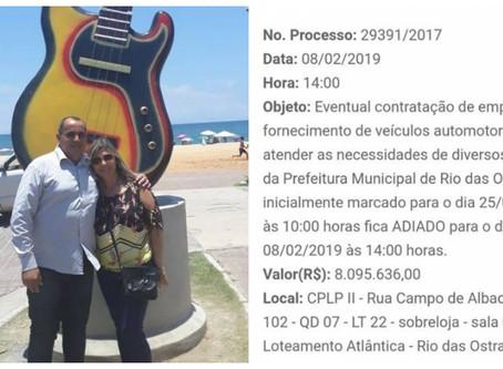 Rio das Ostras quer vencer crise com pão, circo e carros luxuosos