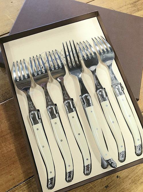 Laguiole Ivory Forks set of six