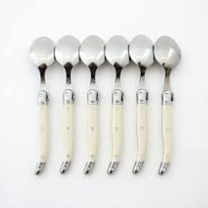 Laguiole Ivory Dessert Spoons set of six