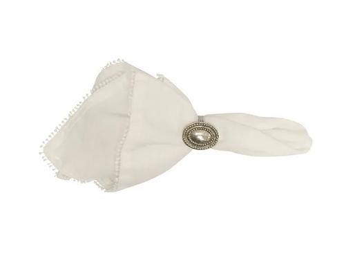 White Bauble Napkin set of four