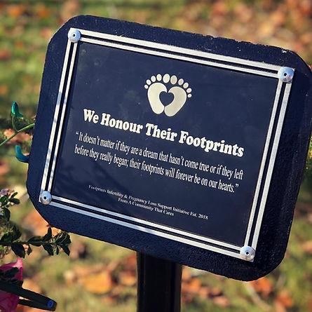 Blaise Hunter Footprints memorial