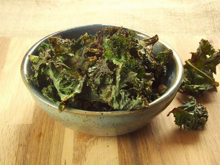 Garlic & Tahini Kale Chips