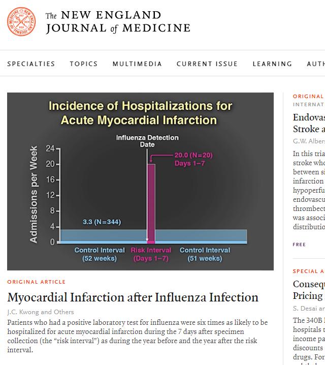 Capa do jornal The New England Journal of Medicine de 27/01/2018