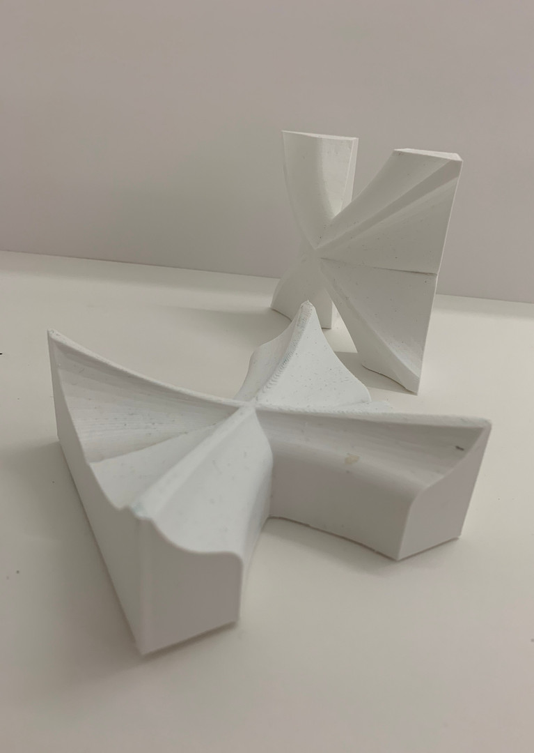 3D printed flat/corner modules