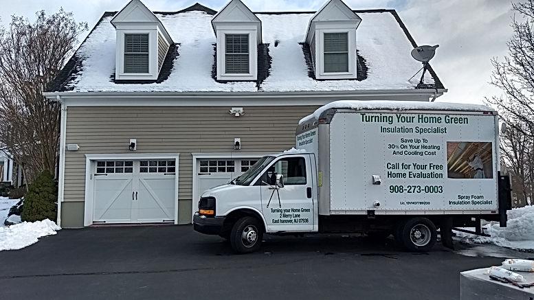 Insulation contractor New Jersey (NJ) truck