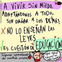 es cuestión de educación