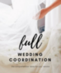 full wedding planning and Coordination