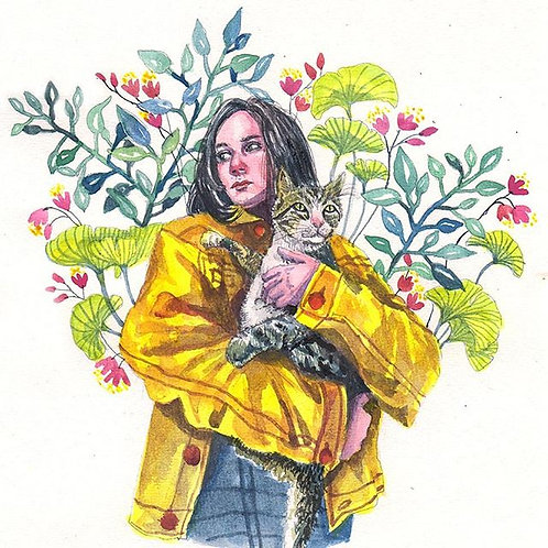 Woman & Cat II