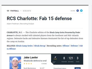 Devon Hunter: Rivals Top 15 Defense at RCS Charlotte.