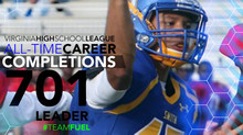 VHSL all-time completions career leader!