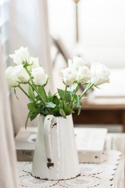 Winter White Roses