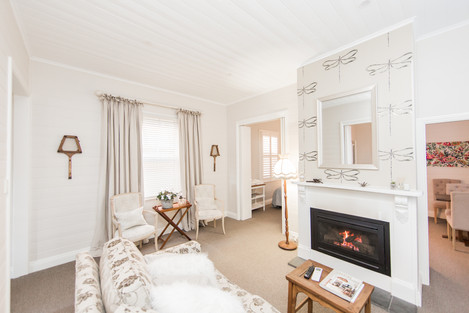 Warm fire in Cottage