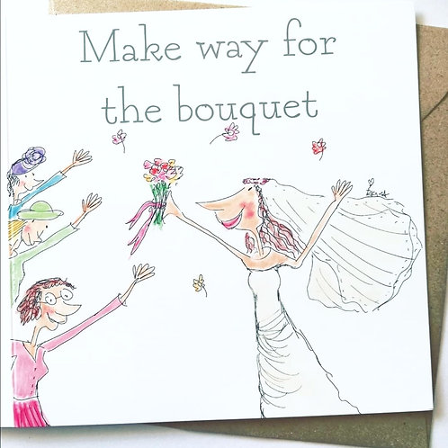 Make way for the bouquet