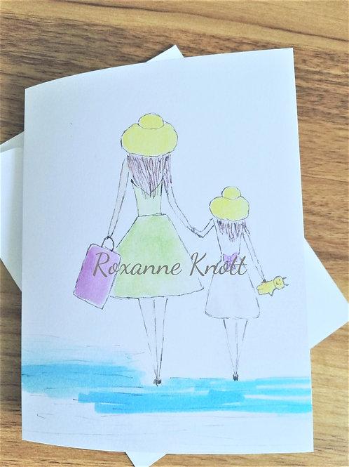Sea days - Greeting card (blank inside)