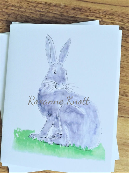 Country hare - Greeting card (blank inside)