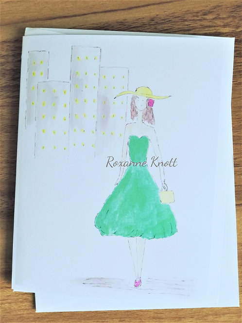 In the city - Greeting card (blank inside)