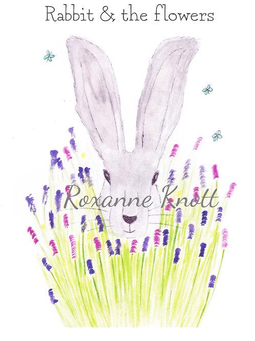 Rabbit & the flowers