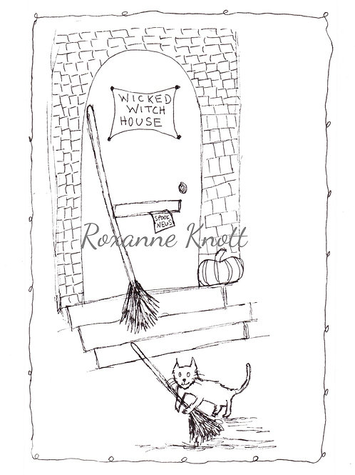 Wicked witch house - Colour your own!