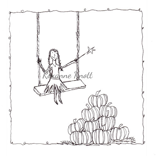 Pumpkin swing - Colour your own!