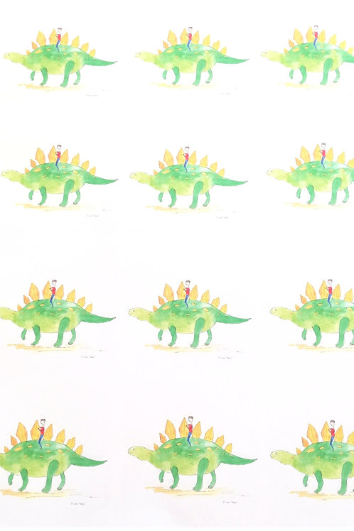 Dino taxi - Wrapping paper