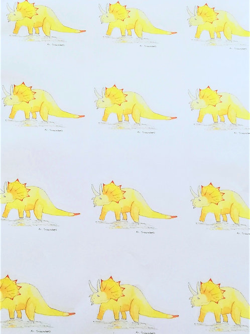Mr Triceratops - Wrapping paper