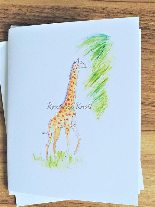 The giraffe & the tree - Greeting card (blank inside)