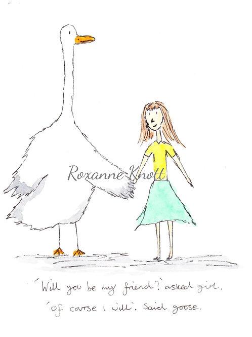 Girl & Goose - 1