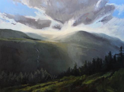 Leaving Glendalough, Looking West: The Wicklow Way