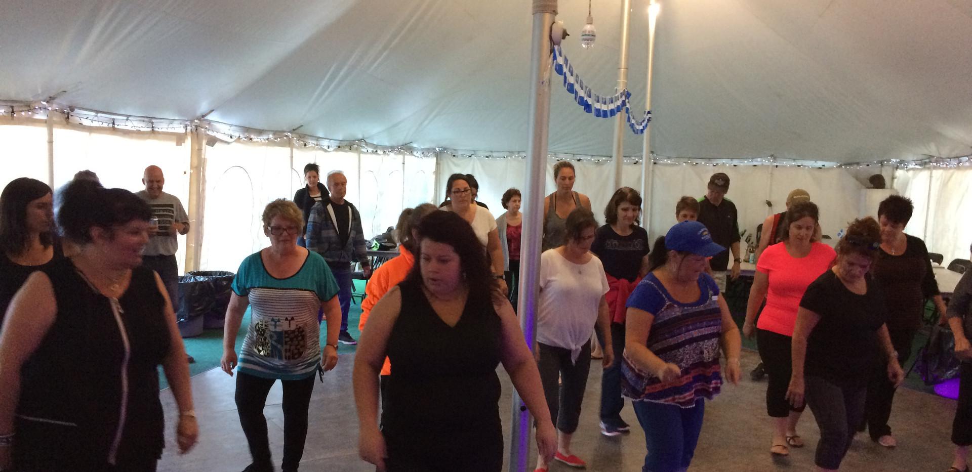cours de danse avec Jacinthe -camping-bo