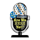 """""""Are We Here Yet Podcast Logo"""""""