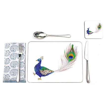 Peacock table mats