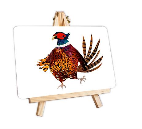Pheasant serving mat