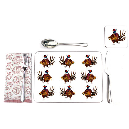 Pheasant pattern table mats