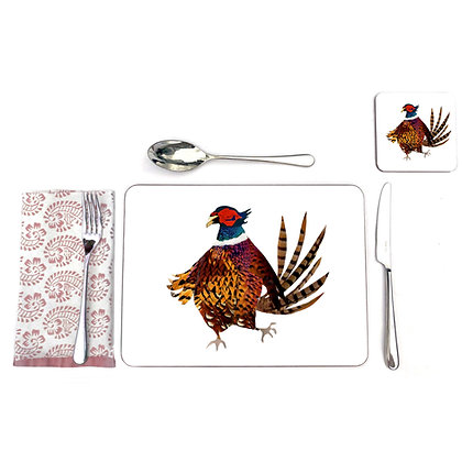 Pheasant table mats