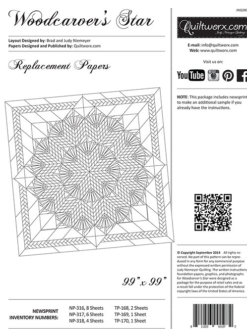 Woodcarver's Star Extra Paper Pack