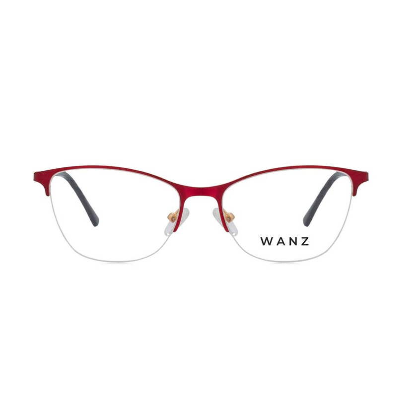 Gio Half-Rim Metal Frame, Red
