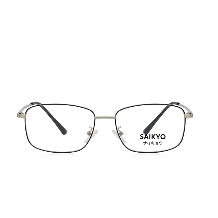 Traver Metal Frame Eyeglasses Black Silver