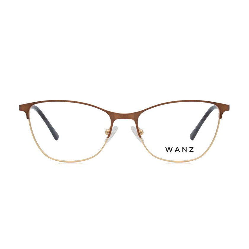 Lizzy Eyebrow Metal Frame, Brown