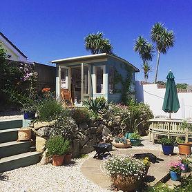 My stripy garden studio