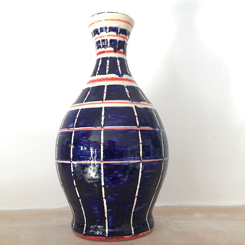 Blue and red pot