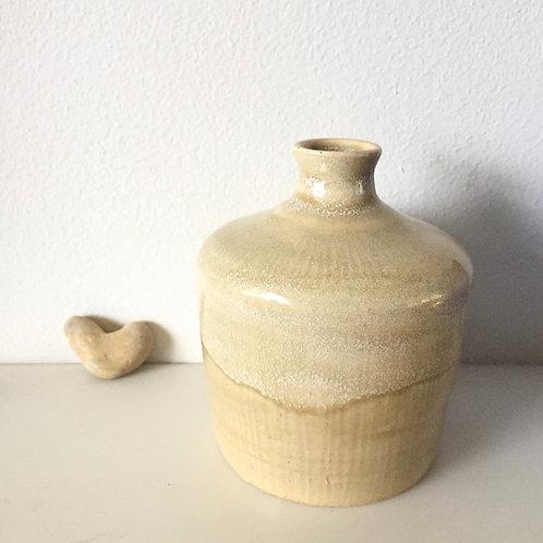 Washed sand stem vase