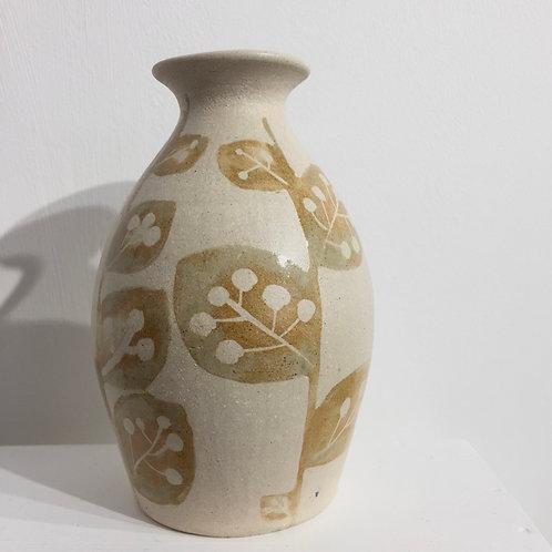 Ochre Full Leaf bottle vase