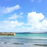 St Ives harbour on a sunny day.